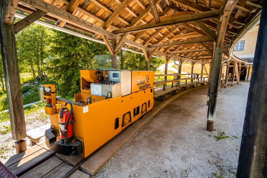 Small train at Salzbergwerk Hallstatt