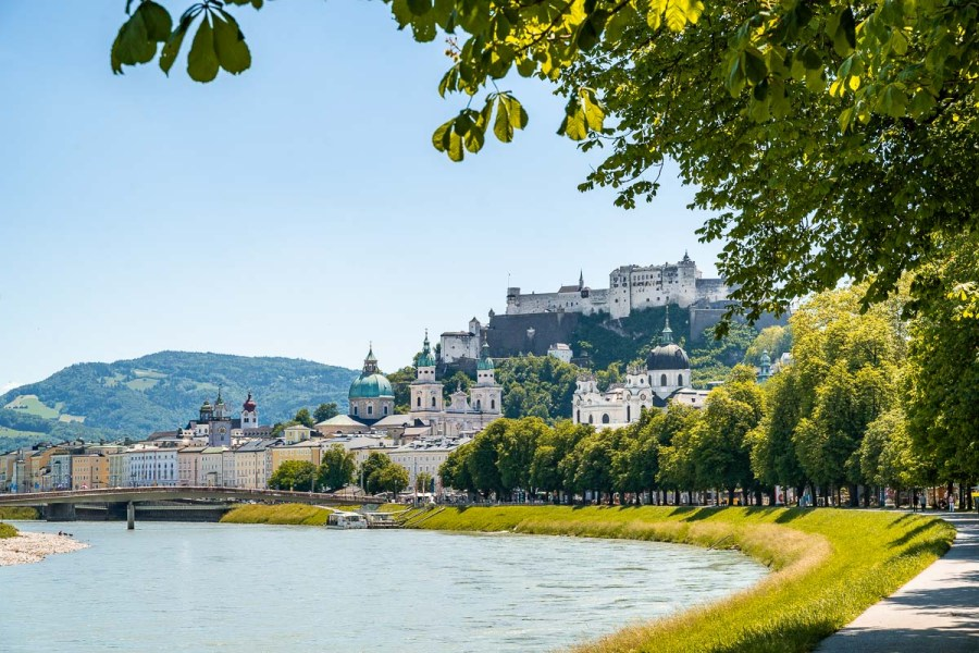 Beautiful riverside you can't miss on your Salzburg itinerary