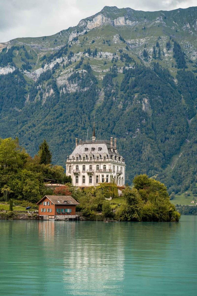 Schloss Seeburg at Lake Brienz, Switzerland