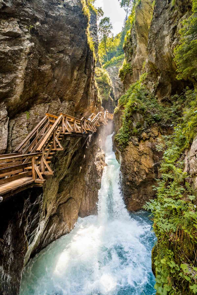 Wooden stairway at Sigmund-Thun Klamm, Austria