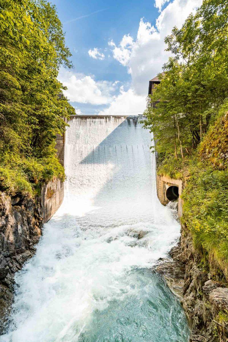 Huge waterfall at the end of Sigmund-Thun Klamm, Austria