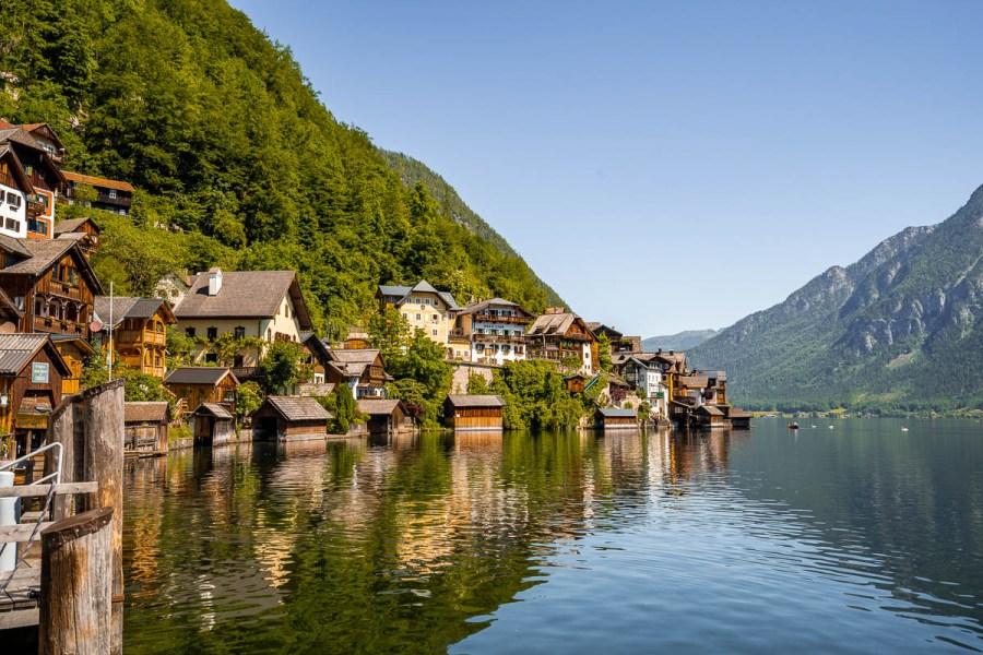 Wooden houses in Hallstatt, Austria