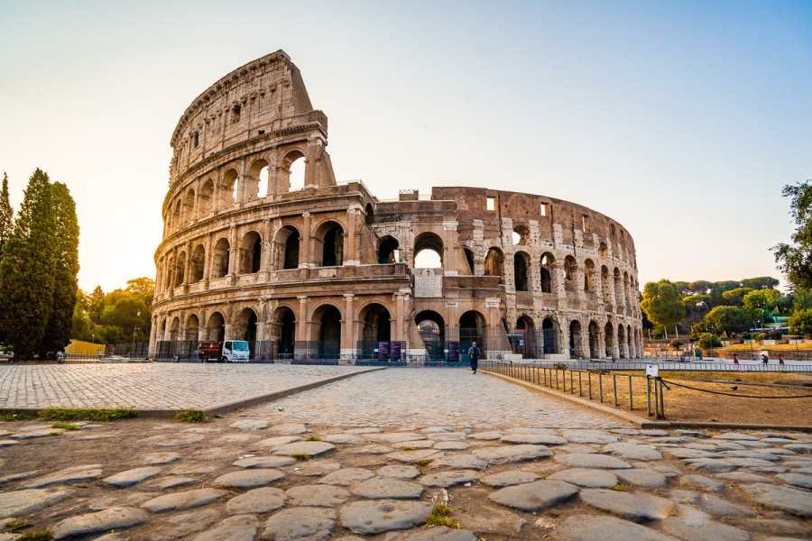 Morning at the Colosseum in Rome, Italy