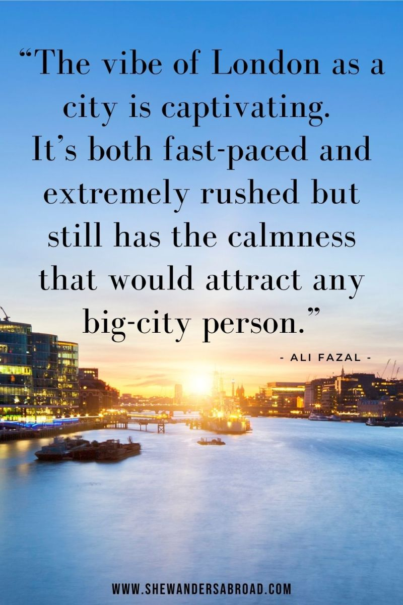 Powerful London Quotes for Instagram