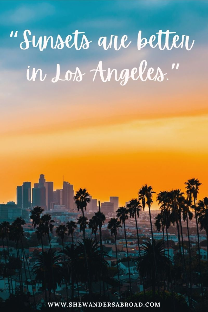 Short Los Angeles Instagram Captions