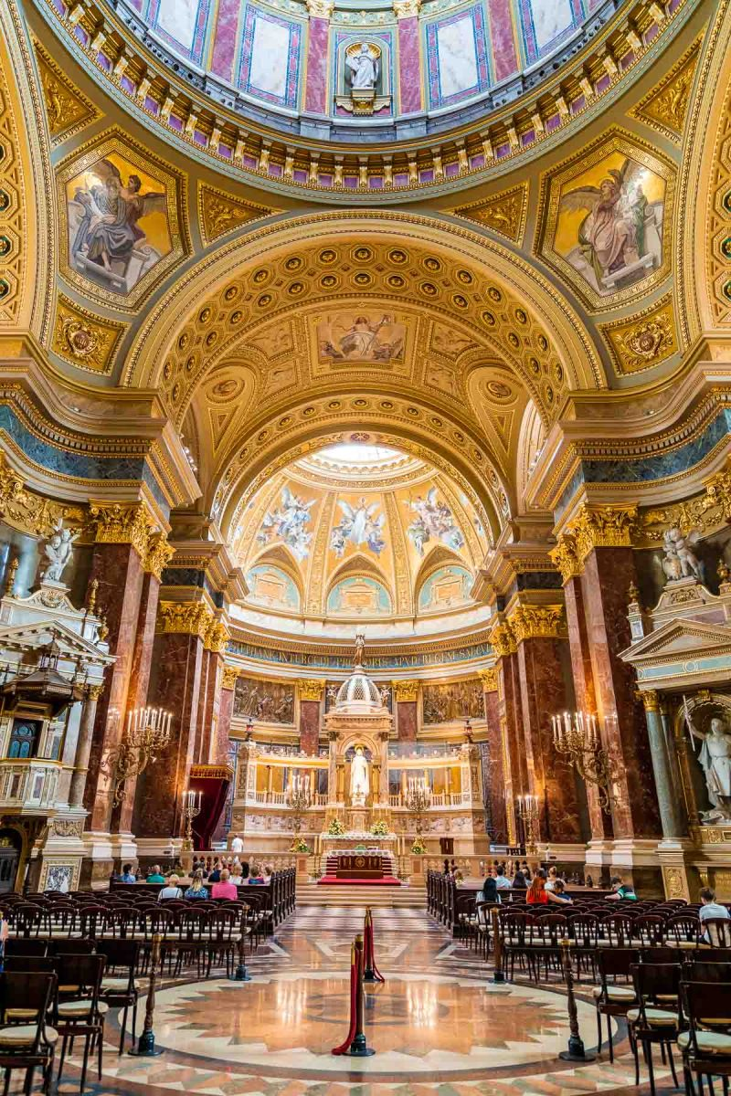 The interior of the St. Stephen Basilica