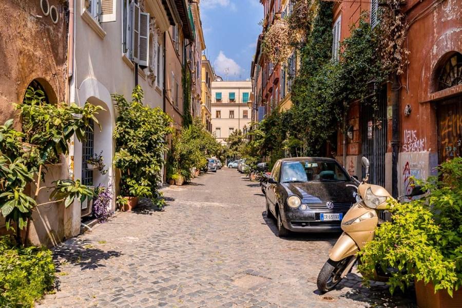 Trastevere neighborhood in Rome, Italy