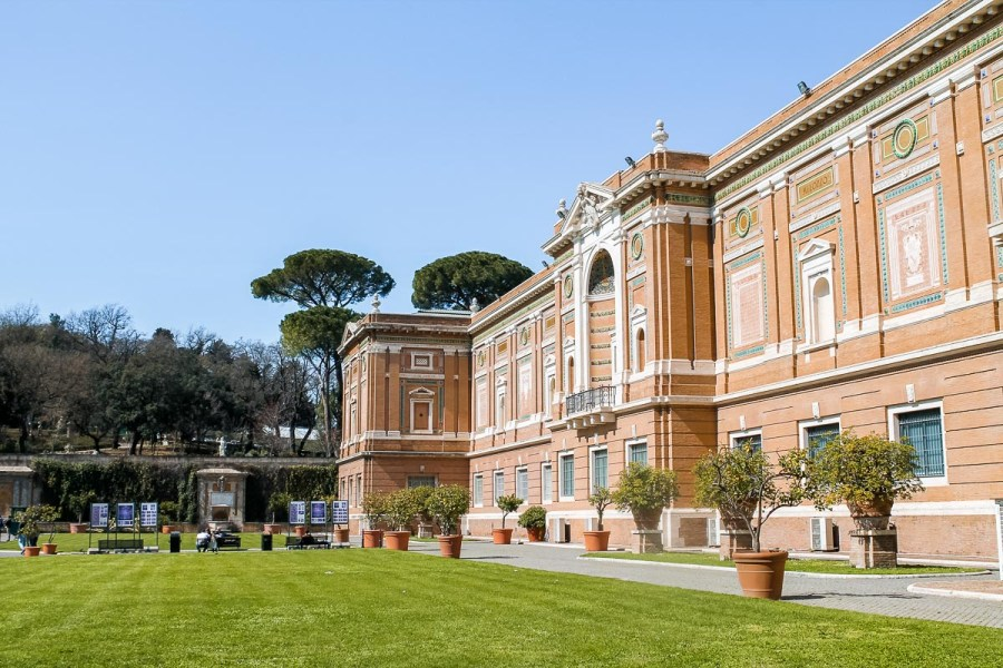 Exterior and gardens of the Vatican Museums