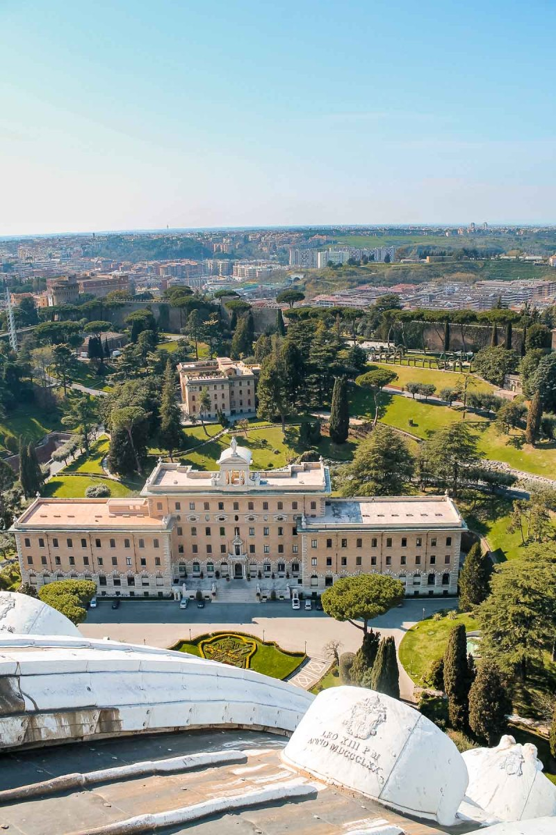 View of the Vatican Gardens from the Vatican Museums