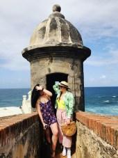 """With my sister at """"EL Morro"""""""