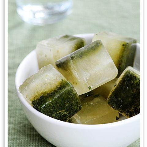Lemon Mint Ice Cubes