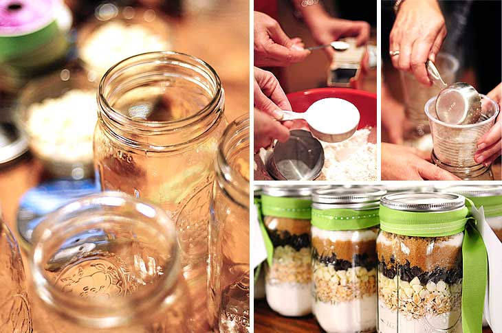 cookie mix in jars