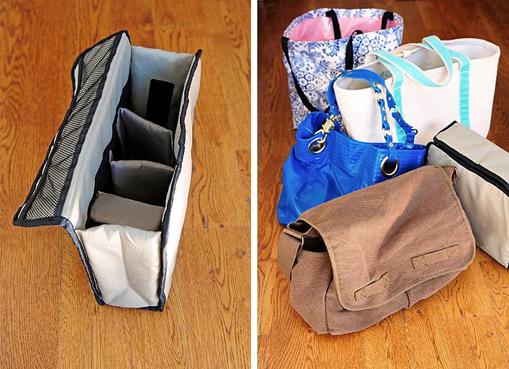 Convert a Tote into a Camera Bag