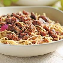 Angel Hair Pasta with Italian Sausage, Mushrooms and Herbs