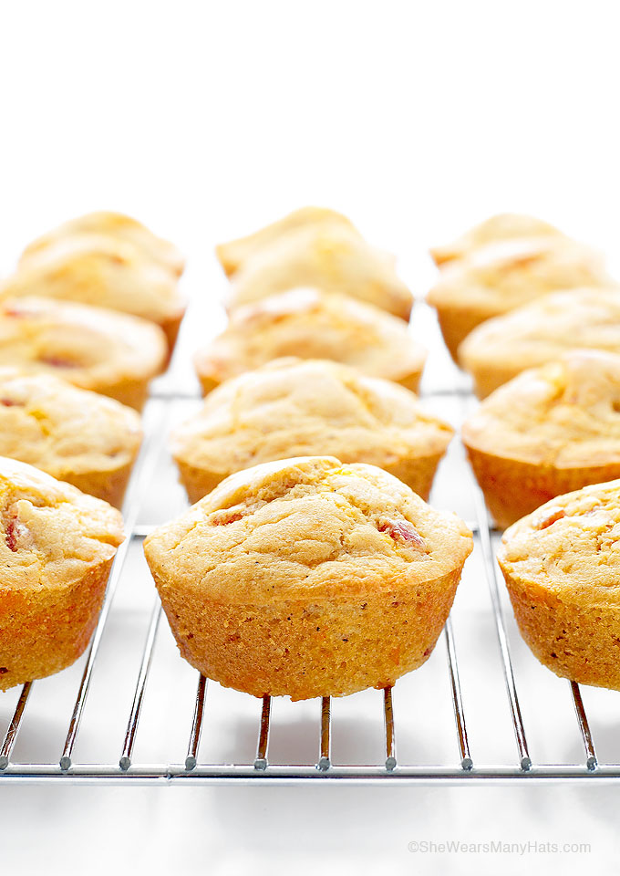 Ham Cheese Breakfast Muffins Recipe These Ham and Cheese Breakfast Muffins are savory muffins with a touch of spice that are perfect for breakfast, but also for brunch or as a side with chili or stew.   shewearsmanyhats.com #muffins #breakfast #recipe