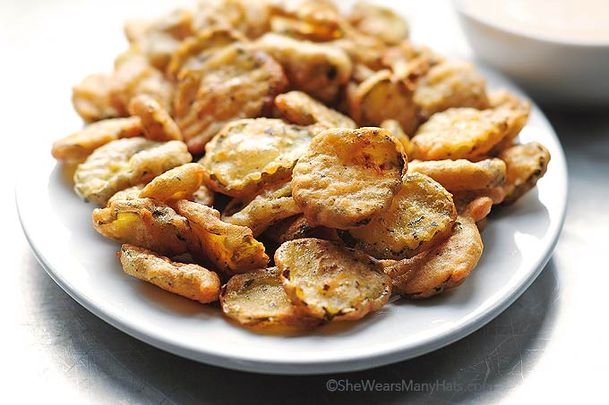 Fried Pickles on a plate