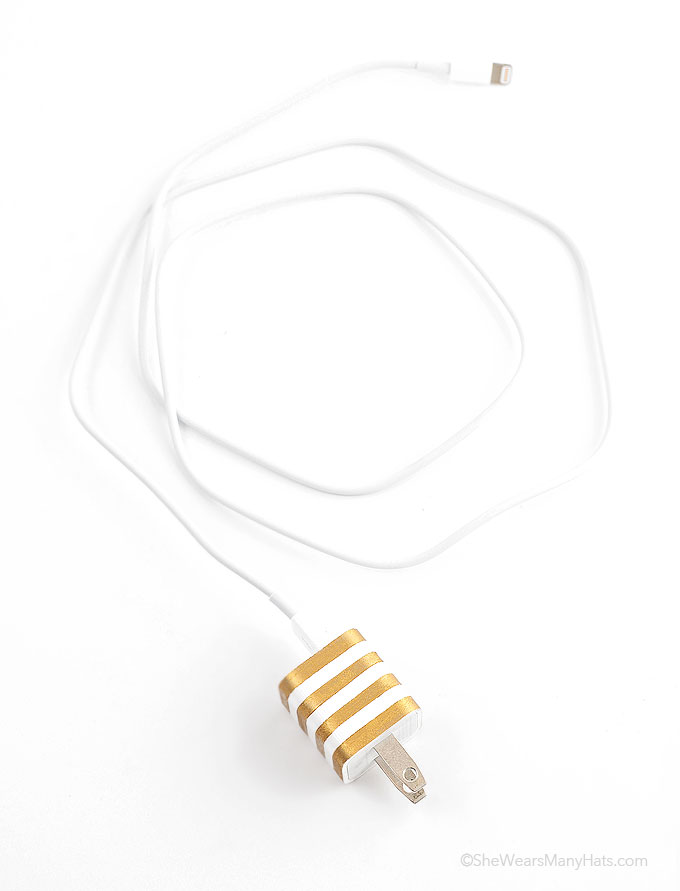 gold striped diy customized charger