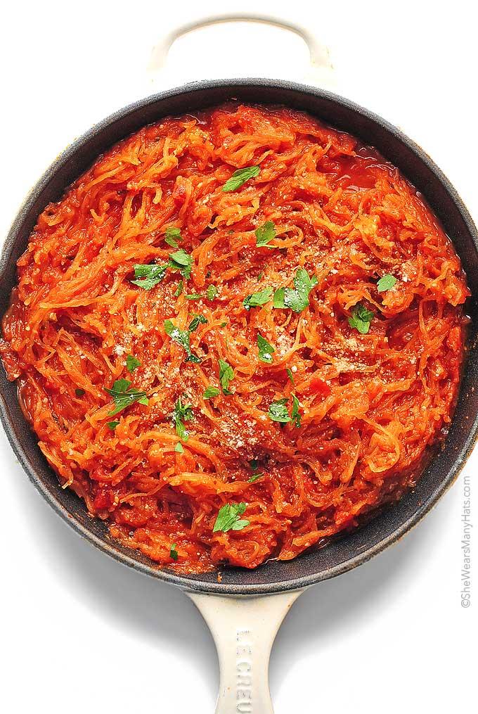 Marinara Spaghetti Squash Recipe