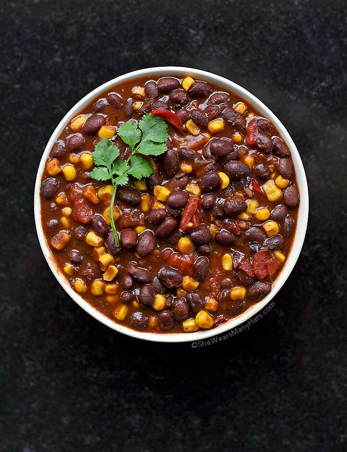 This bold and zesty Vegetarian Chili is quick and easy to put together, and the perfect meal for serving a crowd.
