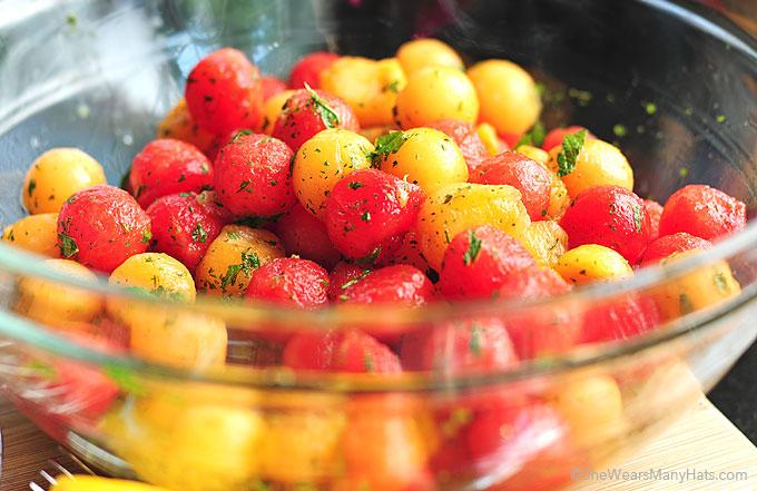 Mint Melon Salad Recipe