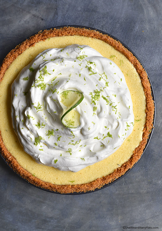 Key Lime Pie Recipe shewearsmanyhats.com