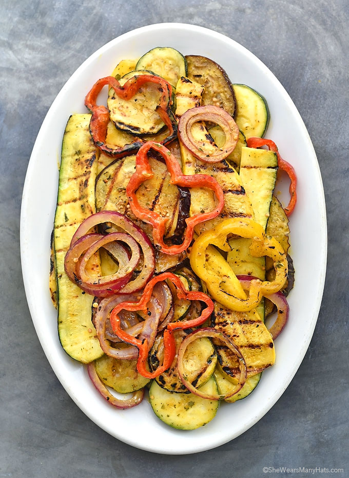 Grilled Vegetables Spicy Honey Mustard Dressing Recipe shewearsmanyhats.com
