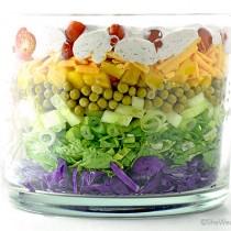 Easy Colorful Layered Salad Recipe   shewearsmanyhats.com