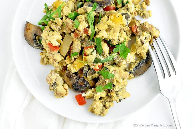 Loaded Scrambled Eggs Recipe | shewearsmanyhats.com