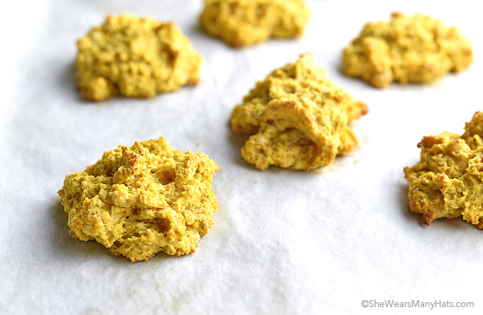 Pumpkin Sage Drop Biscuits Recipe   shewearsmanyhats.com