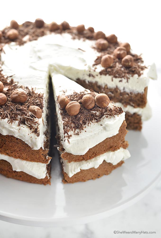 Chocolate Hazelnut TorteRecipe   shewearsmanyhats.com