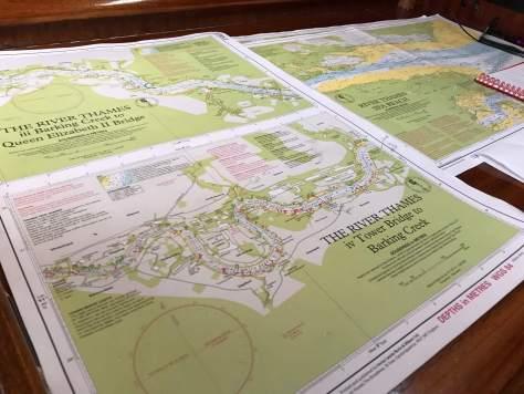 Charts London to Chatham sailing