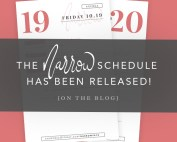 2018 she works HIS way Narrow Schedule Released!