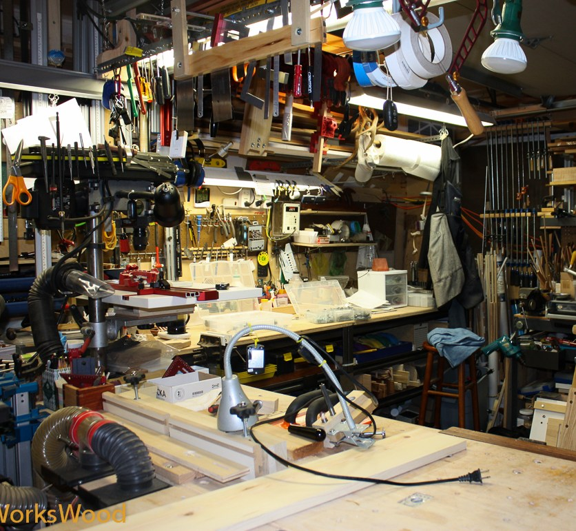 Steve's router / drill press / bandsaw shop