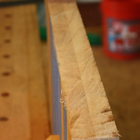 Sawn notches for the chest walls.
