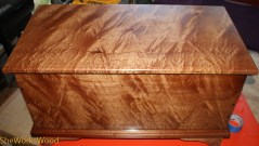 Curly Sapele Six Board Chest
