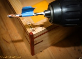 I also needed to drill out the mortise for hinge arm.