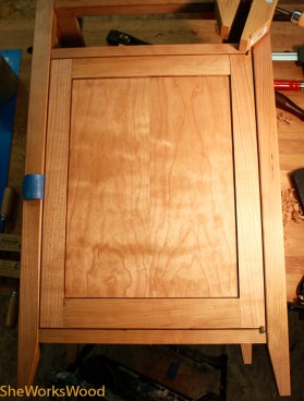 And here's the door installed with spacing.