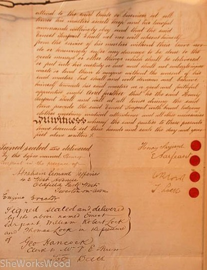 Indentured Servant's Papers