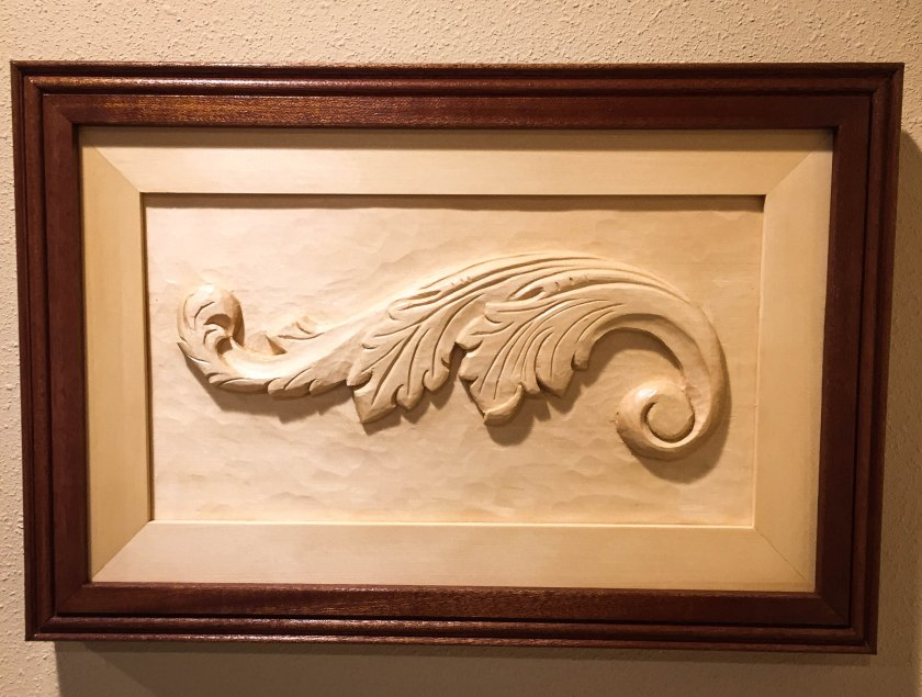 Final Acanthus Leaf framed (1 of 1
