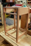 Progress shots with the drawer frame in.