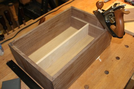 Trimiming the internals for the perfect fit with my hand tools.