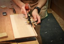 I used my plow plane to make the drawer bottom groves.