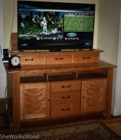 Cabinet with TV Up.