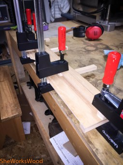 """Gluing up 1/4"""" plywood."""