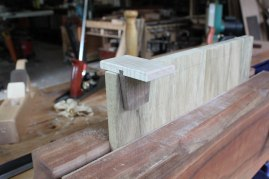 Laying out dovetails.