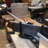 Trimmed with my miter box saw.
