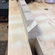 And behold the mitered dovetail.