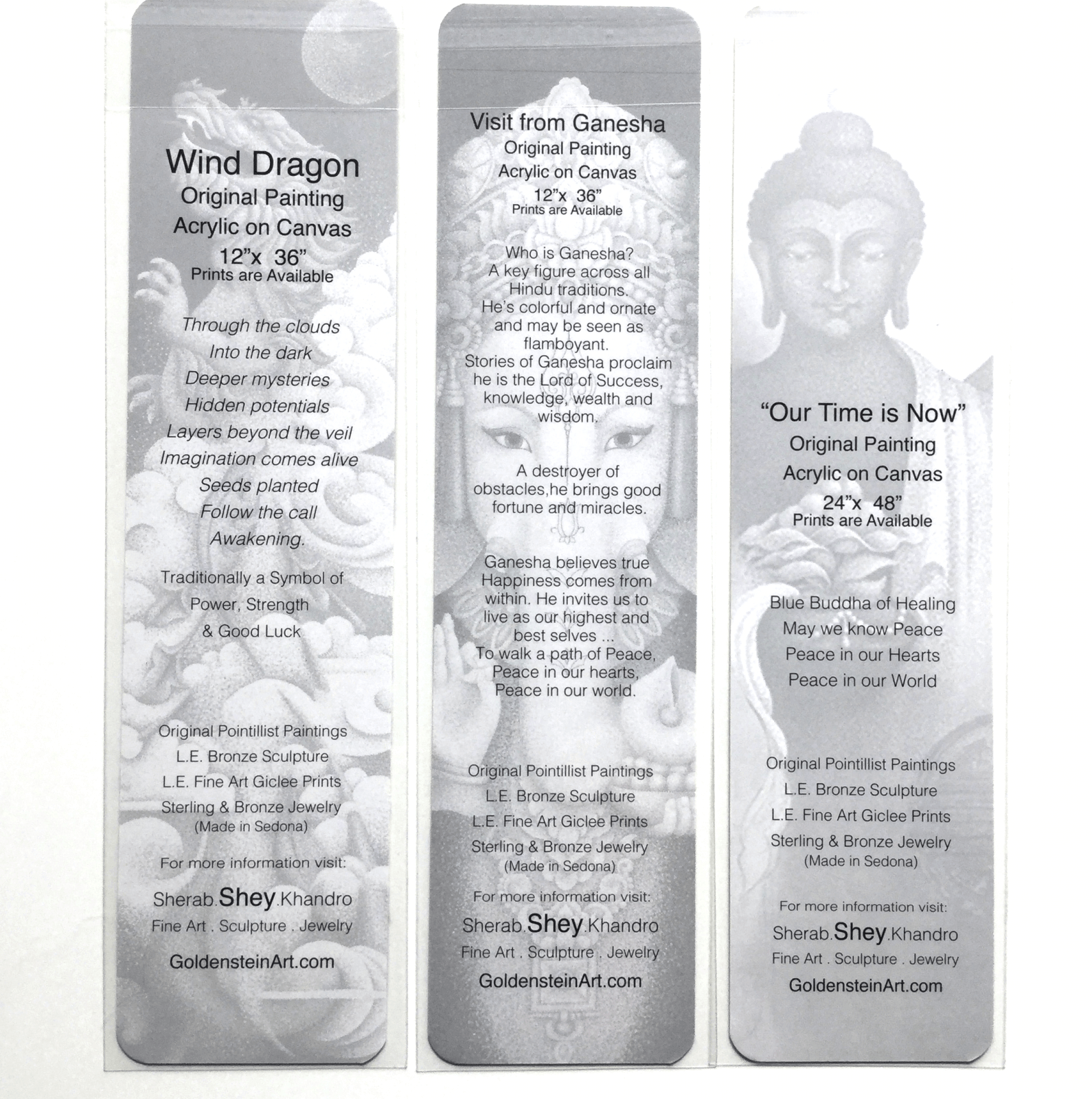 Art Bookmarks Assorted text