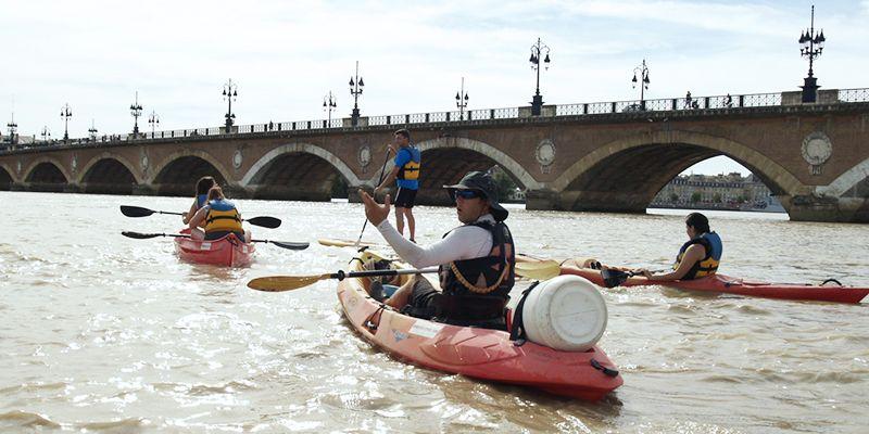 Descente De La Garonne En Cano Kayak Bordeaux