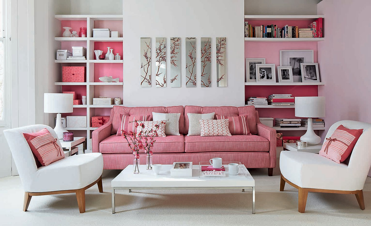 10 Blissful interior design ideas for a pink living room
